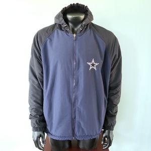 NFL Reebok Dallas Cowboys reversible hooded jacket
